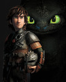 Hiccup and Toothless - full poster - how-to-train-your-dragon photo
