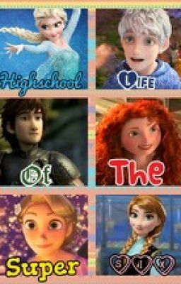 Rise of the Frozen Brave Tangled Dragons پیپر وال with a portrait titled Highschool Life of the Super Six
