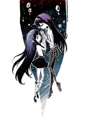 Homura Akemi and Rika Furude | Puella Magi Madoka Magica / Higurashi no Naku Koro Ni