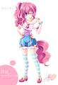 Human Pinkie Pie Winking