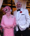 James Bond (Dennis Keogh) with Her Majesty Lookalike
