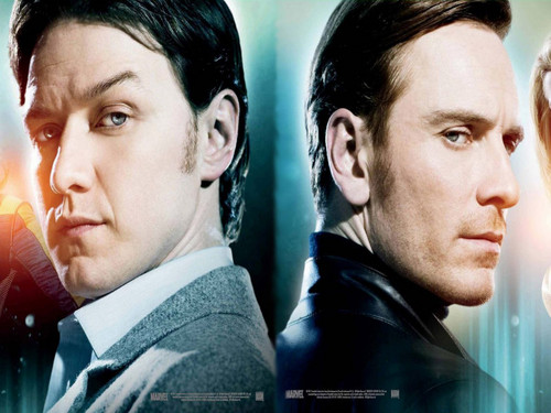 James McAvoy and Michael Fassbender wallpaper possibly containing a business suit and a portrait titled James & Michael ★