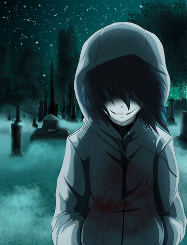 Jeff the killer Обои possibly with санный, катание на санках, and катание на санях called Jeff in a graveyard