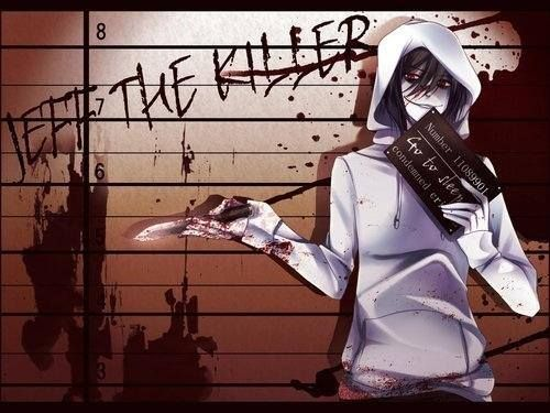 Jeff the killer Обои probably containing a сюрко, покрывать, surcoat and a sign titled Jeff with jail sign