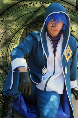 Fairy Tail Cosplay karatasi la kupamba ukuta possibly with a kofia entitled Jellal Fernandes Cosplay