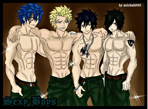 fairy tail wallpaper with animê entitled Jellal, Sting, Gray, Rogue