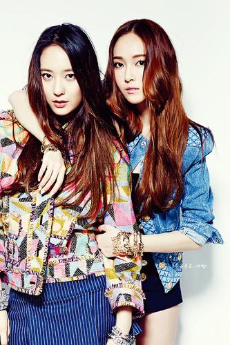 Krystal Jung 바탕화면 titled Jessica and Krystal for Nylon