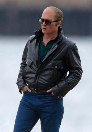 Johnny Depp as Whitey Bulger on Set of 'Black Mass'