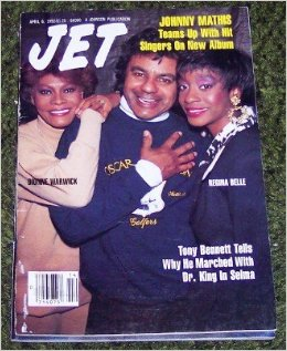 Johnny Mathis, Dionne Warwick And Regina Belle On The Cover Of JET Magazine