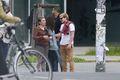 Josh Hutcherson with his girlfriend Claudia Traisac in Berlin