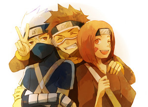 কাকাসি Hatake, Rin and Obito Uchiha