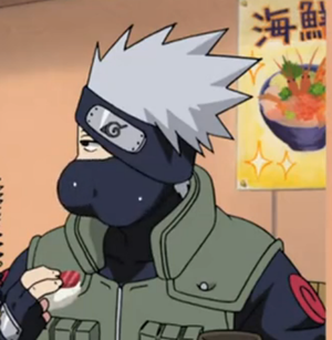 Kakashi munching sushi! XP