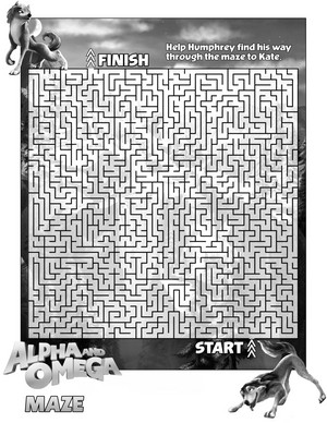 Kate and Humphrey maze