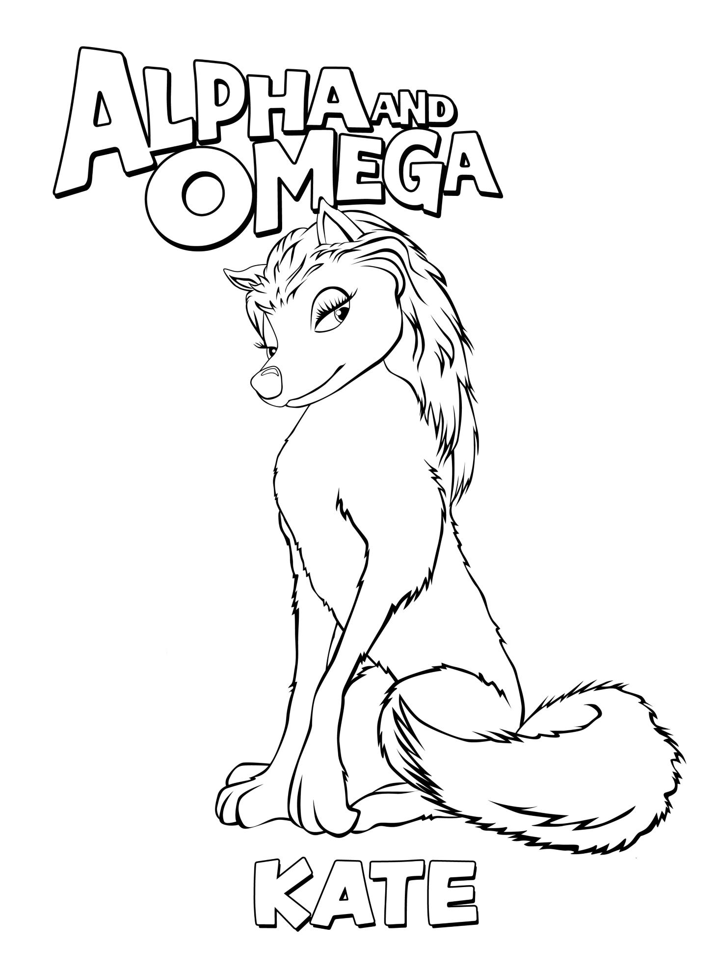Alpha and Omega images Kate coloring page HD wallpaper and ...