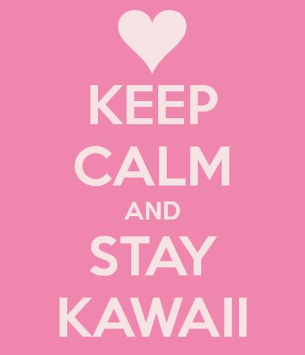 Ravissa <3 karatasi la kupamba ukuta probably containing a no parking zone entitled Keep Calm Kawaii