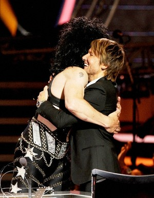 Keith Urban and Paul Stanley ~American Idol 2014