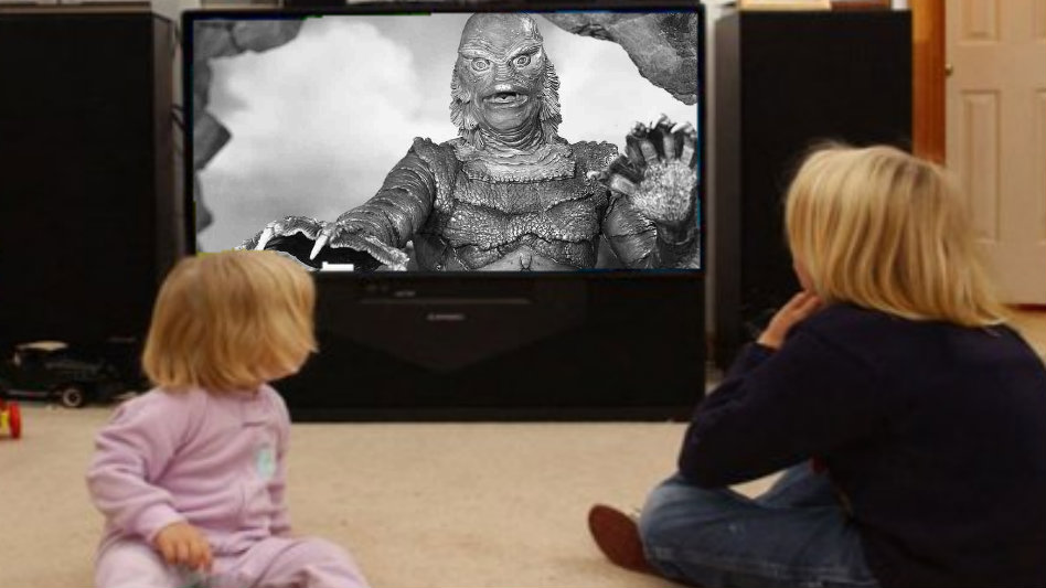 Monster movies images Kids Watching Creature from the Black