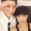 Lay 140522 Instagram Update: 생일 축하해라 리더 김준면 ~^^ 엑소 잘부탁한다 - exo-m photo