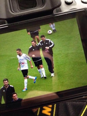 Liam,Louis and Ben Wariming Up Before The Match !!