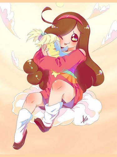 Gravity Falls achtergrond called Mabel and jake jr