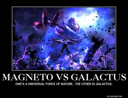 X-Men wallpaper probably with a japanese apricot and a foxglove titled Magneto Vs. Galactus