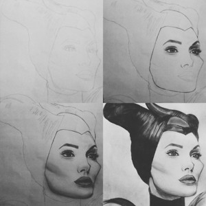 Maleficent-Drawing