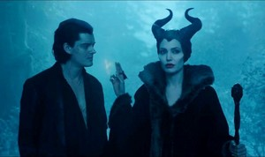 Sam Riley and Angelina Jolie,Maleficent