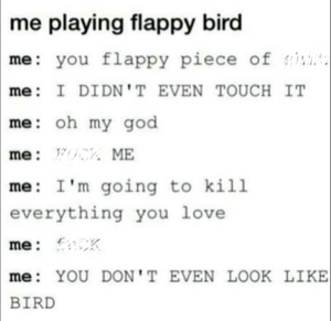 Me playing Flappy Bird