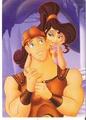 Megara and Hercules - disney fan art