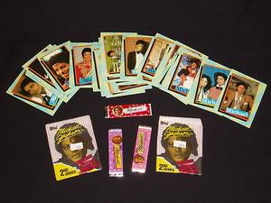 Michael Jackson Trading Cards With Three Sticks Of Bubblegum