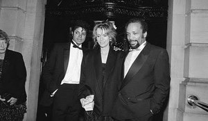 Michael With Quincy Jones And Former Wife, Peggy Lipton