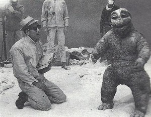 Minilla in the Snow