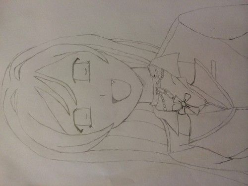 Rosario Vampire Обои called Moka-San Drawing
