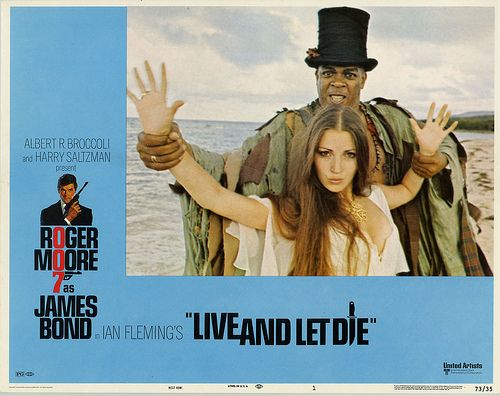 "Movie Poster For The 1973 Bond Film, ""Live And Let Die"""