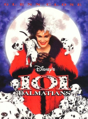 "Movie Poster For The 1996 Live Animated डिज़्नी Film, ""101 Dalmatians"""