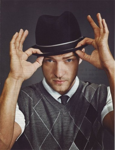 जस्टिन टिम्बरलेक वॉलपेपर with a snap brim hat, a campaign hat, and a fedora entitled Mr. Timberlake