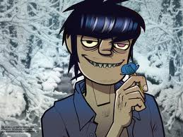 Murdoc with a پھول