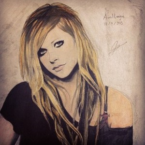 My drawing of Avril Lavigne. Hope 당신 like <3