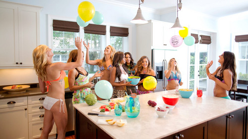 WWE Divas wallpaper titled NXT's Summer Vacation - House Party