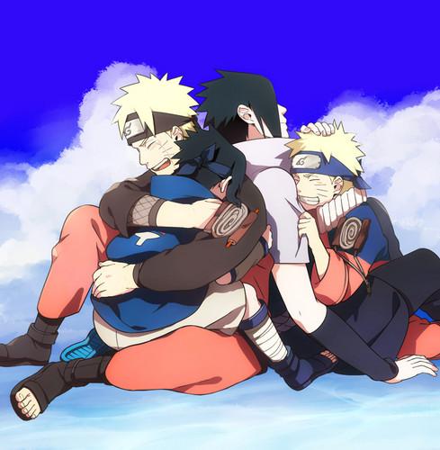 Naruto wallpaper probably containing anime titled Naruto and Sasuke