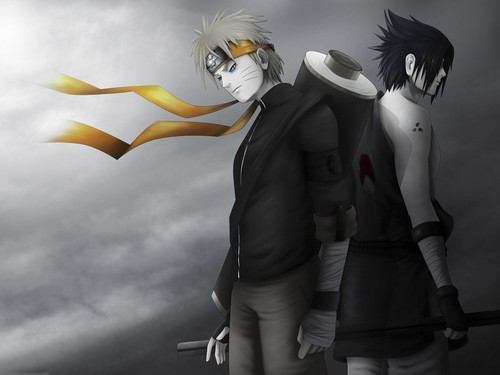 Naruto wallpaper entitled Naruto and Sasuke