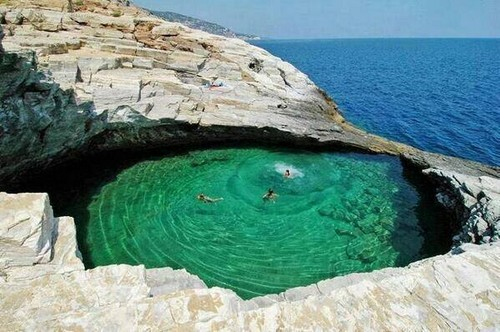 아름다운 사진 바탕화면 entitled Natural-Pool--Thassos-Island--Greece