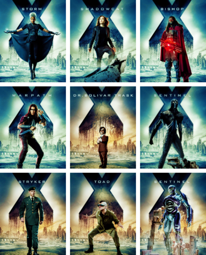 X-Men: Days of Future Past 바탕화면 with a stained glass window titled New Character Posters