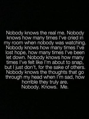 Nobody Really Knows Me