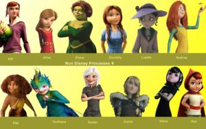 Non ডিজনি Princesses 4
