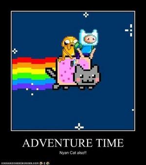 Nyan Cat Finn Jake