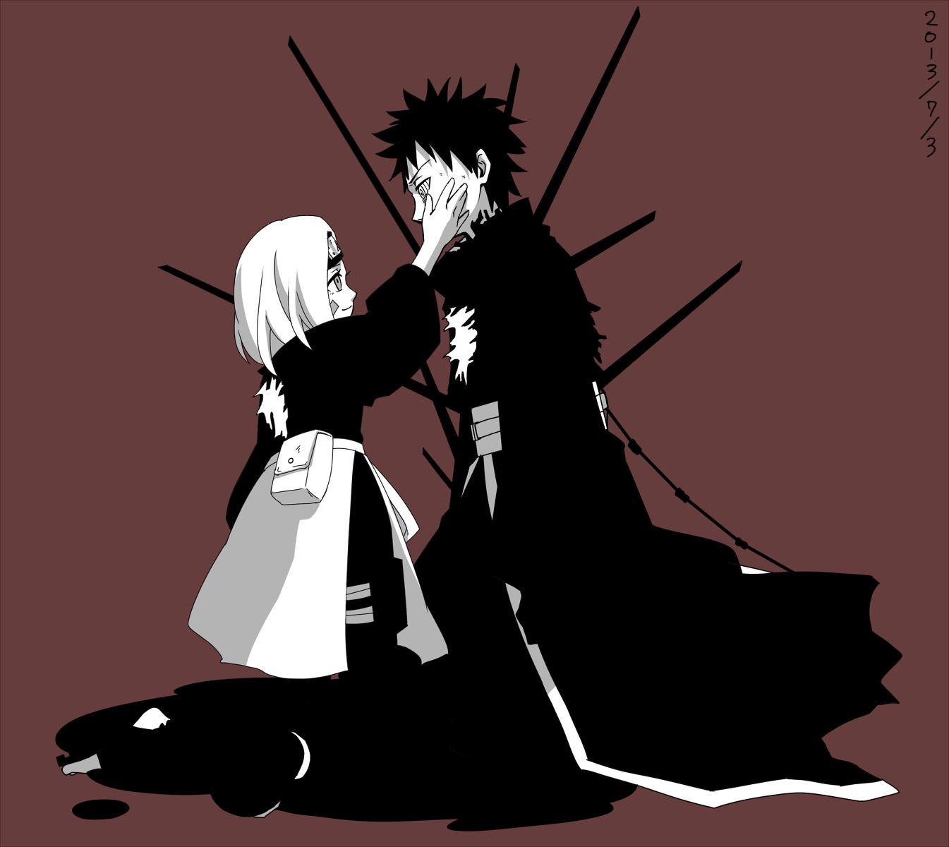 obito uchiha hình nền titled Obito Uchiha and Rin