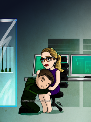 Oliver and Felicity fan Art