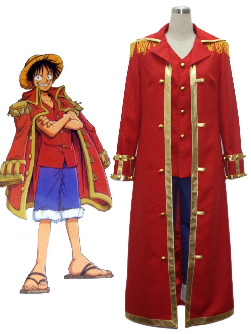 One Piece Imagenes One Piece Monkey D Luffy Captain Cosplay Uniform