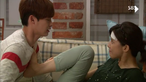 """Park so ha's """"don't be like that to me, noona!!"""" face :)))"""